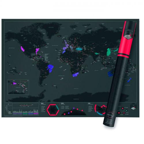 Скретч Карта Мира в Тубусе купить по цене 350 грн.