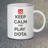 Кружка Keep Calm and Play Dota