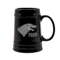 Кружка Старк Игра Престолов, Stark Game of Thrones Черная